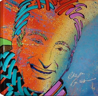 """Genius Unleashed"" -- Robin Williams by Mimi Stuart © Live the Life you Desire"