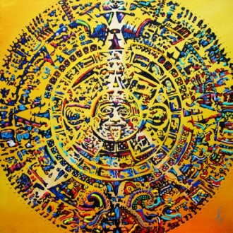 """Mayan Tzolk'in calendar"" by Mimi Stuart © Live the Life you Desire"