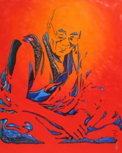 """Enlightenment"" Dalai Lama by Mimi Stuart © Live the Life you Desire"
